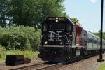 Train 6822 heads north at Shelter Rock Rd. in Danbury
